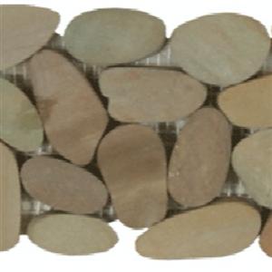 NaturalStone BotanyBayPebbles-SlicedBorders Q403 Olive