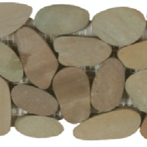 Botany Bay Pebbles - Sliced Borders Olive