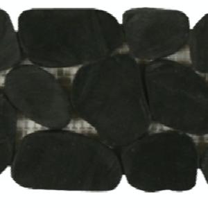 NaturalStone BotanyBayPebbles-SlicedBorders Q404 Black