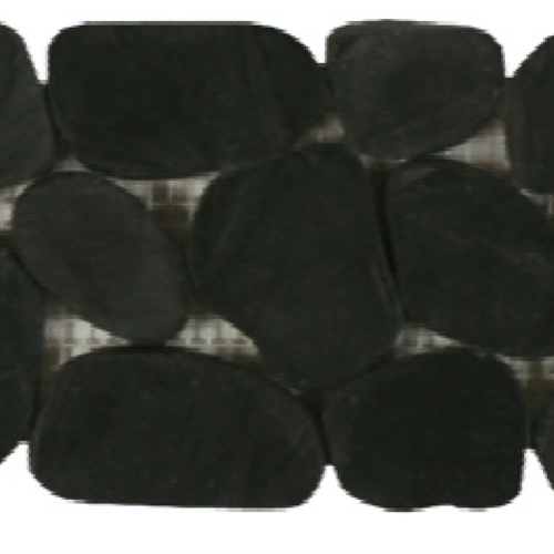 Botany Bay Pebbles - Sliced Borders Black