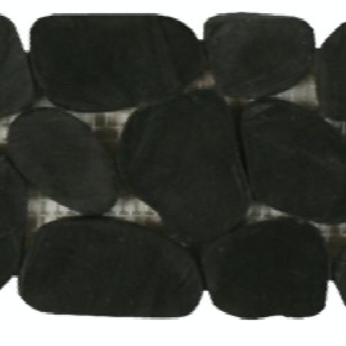 Botany Bay Pebbles - Sliced Borders Black