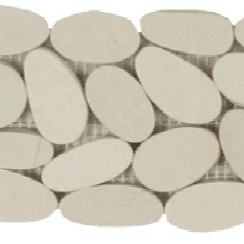 Botany Bay Pebbles - Sliced Borders Cream