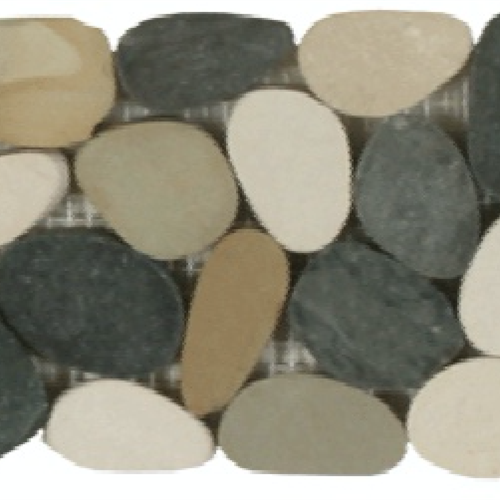 Botany Bay Pebbles - Sliced Borders Botany Bay Blend