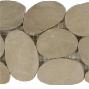 NaturalStone BotanyBayPebbles-SlicedBorders Q409 Khaki