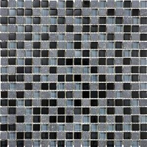 GlassTile Bliss-GlassSlateQuartz 35-019 BlackTimber