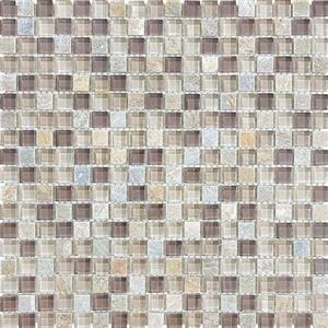 GlassTile Bliss-GlassSlateQuartz 35-020 CottonWood