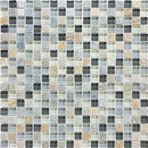 GlassTile Bliss-GlassSlateQuartz 35-021 SilverAspen