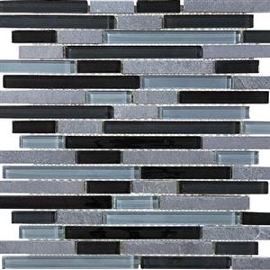GlassTile Bliss-GlassSlateQuartz 35-025 BlackTimber