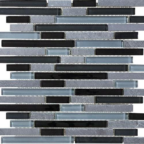 GlassTile Bliss - Glass Slate/Quartz Black Timber  main image