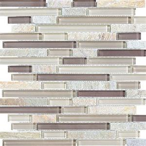 GlassTile Bliss-GlassSlateQuartz 35-026 CottonWood