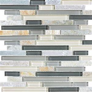 GlassTile Bliss-GlassSlateQuartz 35-027 SilverAspen