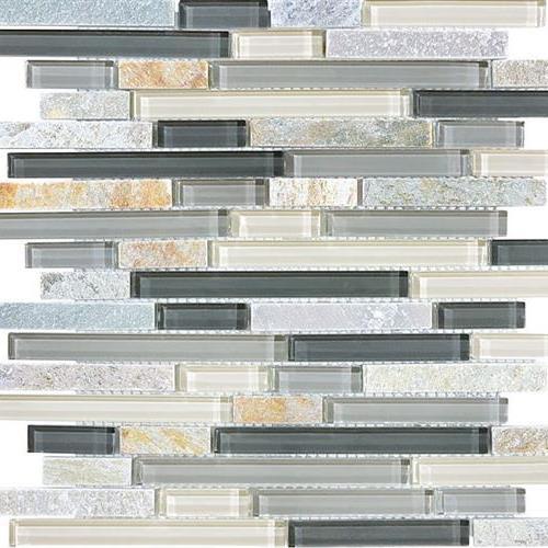GlassTile Bliss - Glass Slate/Quartz Silver Aspen  main image