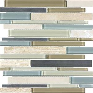 GlassTile Bliss-GlassStoneStainless 35-044 SeaCoast