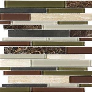 GlassTile Bliss-GlassStoneStainless 35-046 DeepGrotto
