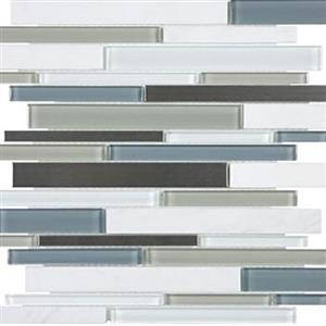 GlassTile Bliss-GlassStoneStainless 35-048 NordicStorm
