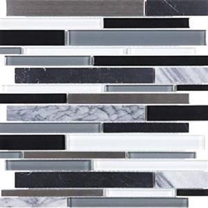 GlassTile Bliss-GlassStoneStainless 35-049 ArcticNight