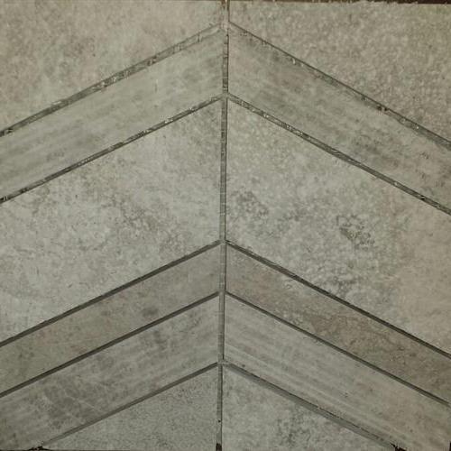 Chevron Mosaic Silver Beige