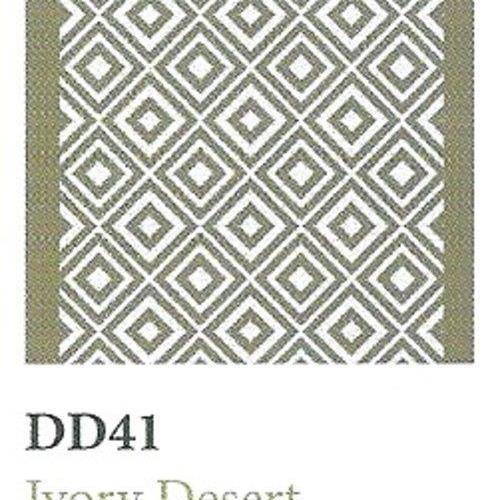 Tapique Runner  Area Rug Collection Double Diamond - Ivory Desert DD41