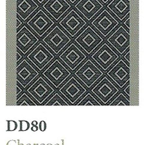 Tapique Runner  Area Rug Collection Double Diamond - Charcoal DD80