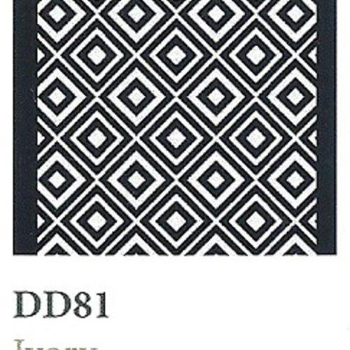 Tapique Runner  Area Rug Collection Double Diamond - Ivory DD81