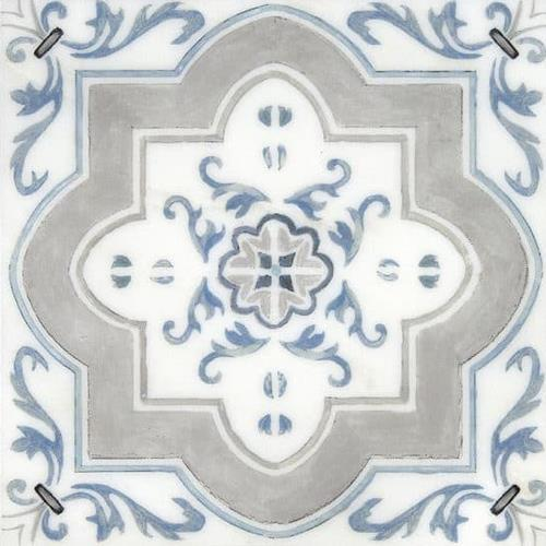 Catalina Pattern Island Blue 12X12 - Carrara