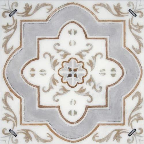Catalina Pattern Pecan 12X12 - Carrara