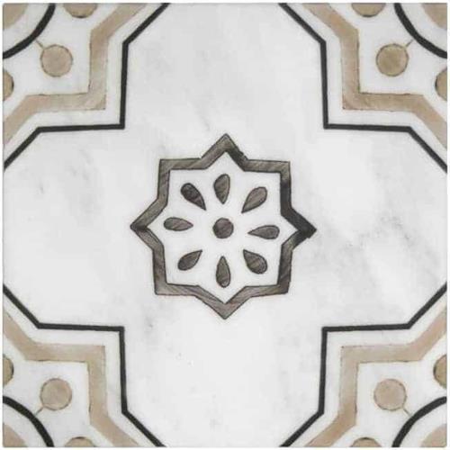 Chapman Pattern Almond 6X6 - Carrara
