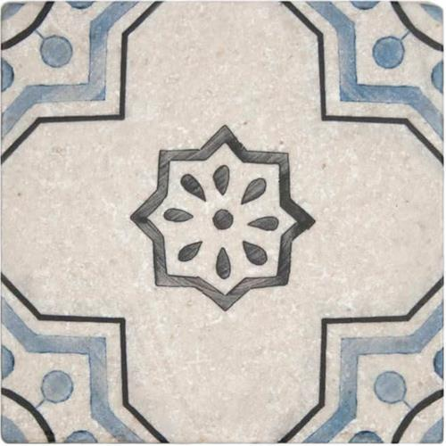 Chapman Pattern Sky 6X6 - Perle Blanc
