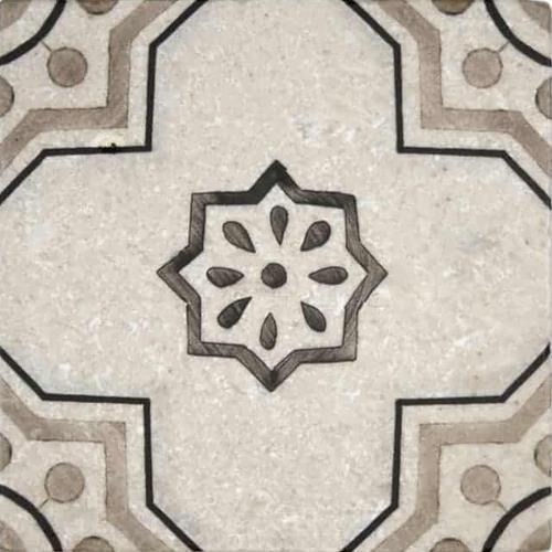 Chapman Pattern Almond 6X6 - Perle Blanc