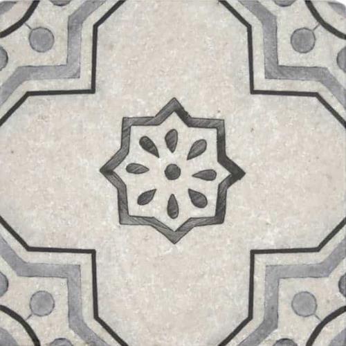 Chapman Pattern Shade 6X6 - Perle Blanc