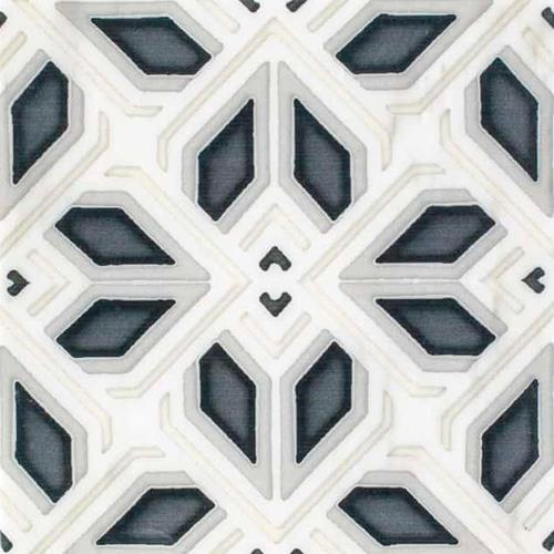 Avery Grande Pattern Charcoal 12X12 - Carrara