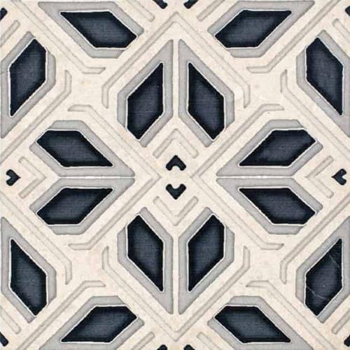 Avery Grande Pattern Charcoal 6X6 - Limestone