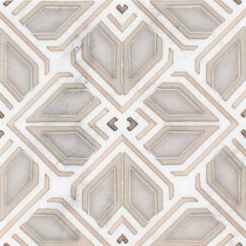 Avery Grande Pattern Latte 6X6 - Carrara