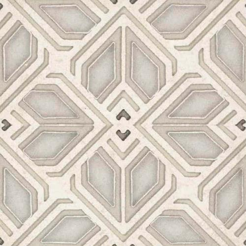 Avery Grande Pattern Latte 12X12 - Limestone