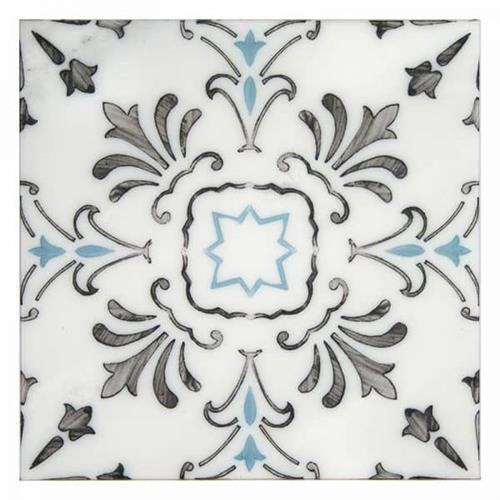 Dana Point Pattern Pacific Blue 6X6 - Carrara