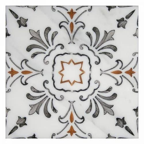 Dana Point Pattern Persimmon 6X6 - Carrara