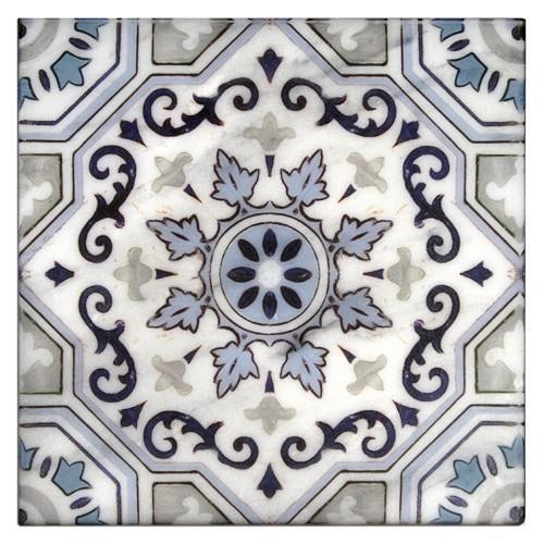Sanza Pattern Snowflake Blue