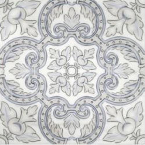 Arya Pattern Bay Blue 6X6 - Carrara