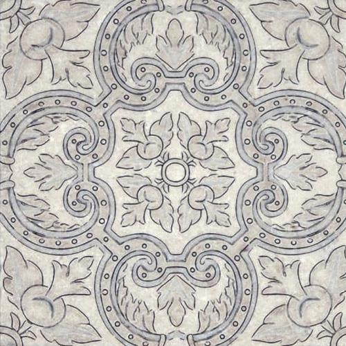 Arya Pattern Bay Blue 6X6 - Perle Blanc