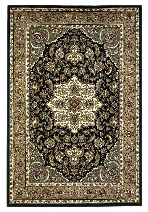 Cambridge-7327-Black/Beige  Kashan Medallion