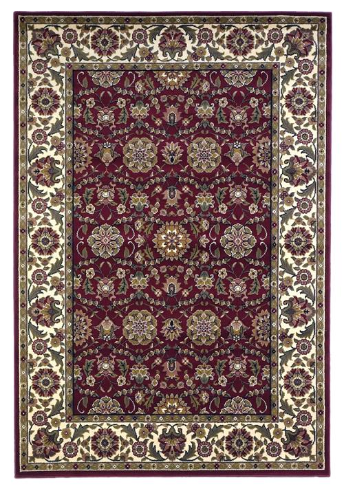 Cambridge-7306-Red/Ivory Floral Agra
