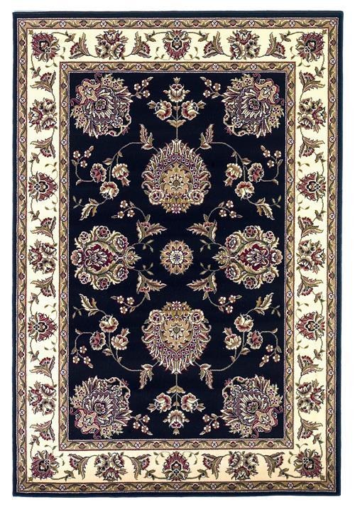 Cambridge-7339-Black/Ivory Floral Mahal