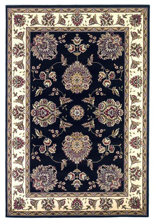 Cambridge-7339-Black/Ivory Floral Mahal