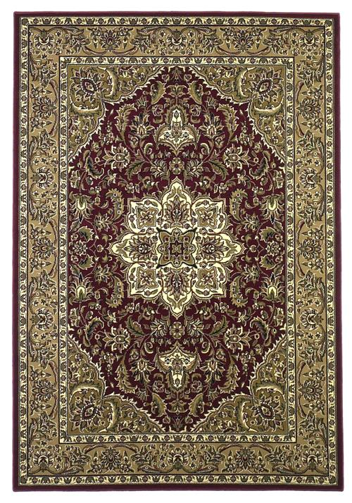 Cambridge-7326-Red/Beige Kashan Medallion