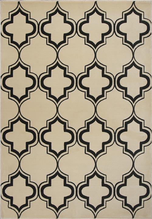Corinthian-5370-Ivory/Black Arabesque