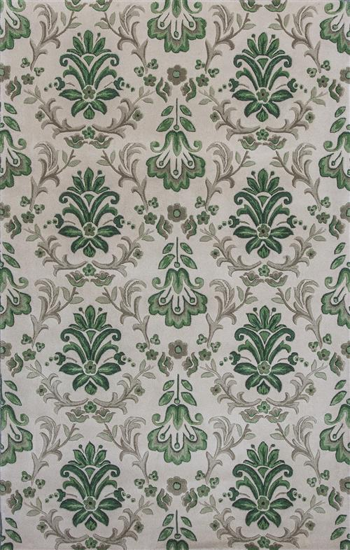 Emerald-9038-Iovry/Green Damask