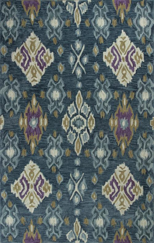 Anise-2412-Blue Allover Ikat