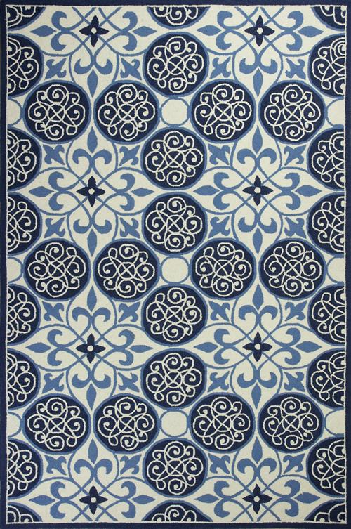 Colonial-1822-Ivory/Blue Serendipity