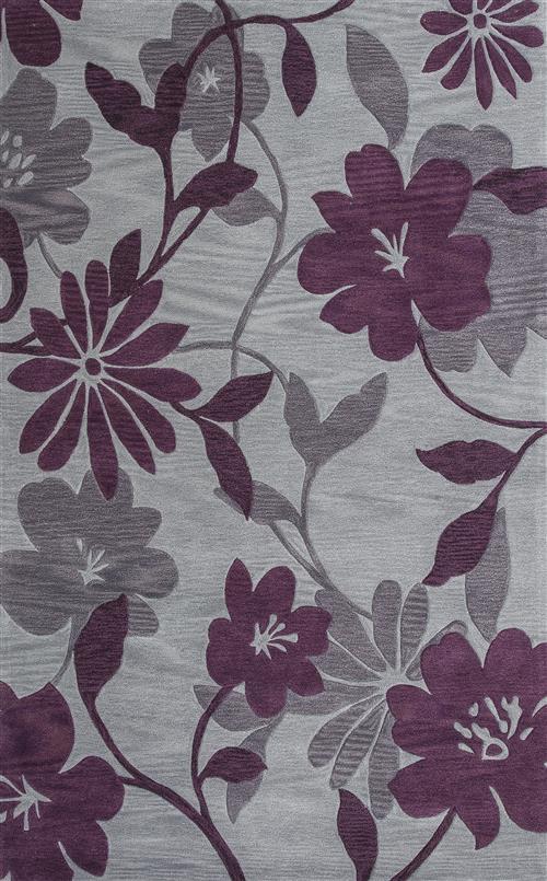 Bali-2861-Grey/Plum Elegance