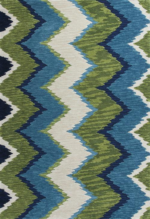 Anise-2420-Blue/Green Chevron